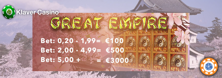 great empire in klaver casino